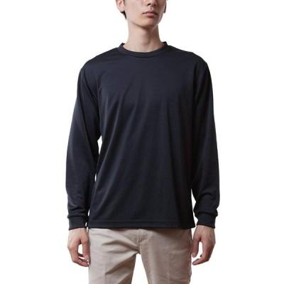 グリマー 長袖 4.4オンス ドライ ロングスリーブ Tシャツ クルーネック 00304-ALT ボーイズ ブラック M (日本サイズM相当