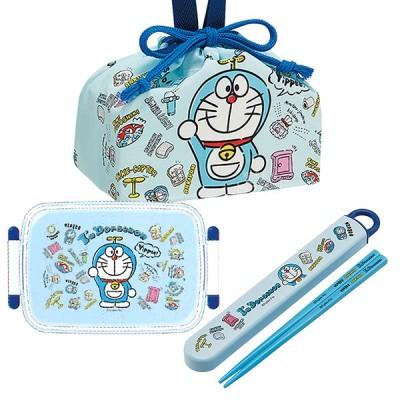 ドラえもん I'm Doraemon 抗菌 角型お弁当箱 450ml 箸&箸箱 巾着セット