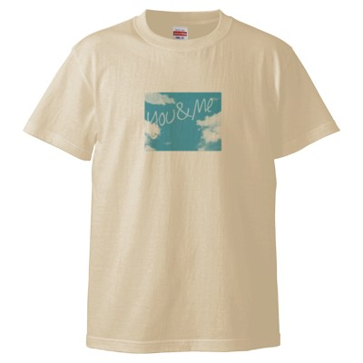 you&meTシャツ(デザインB)(カラー : ナチュラル, サイズ : L)