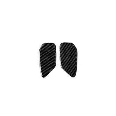 17-19シボレーカマロ装飾トリム用インナードアハンドルボウルパネルカーボンファイバーステッカーインテリアアクセサリー