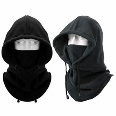 フードウォーマー - 3Way ネックウォーマー 帽子 ネックカバー ヘッドウェア バラクラバ 目出し帽 フリース 防寒 防風 保温 冬 アウトド