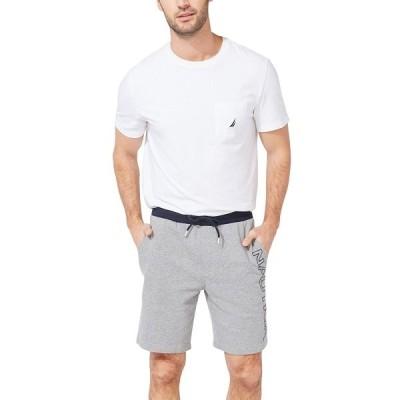 ナウティカ カジュアルパンツ ボトムス メンズ Men's Fleece Knit Logo Shorts Stone Grey Heather