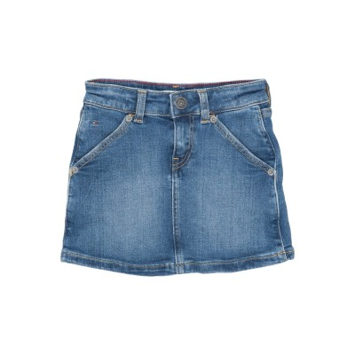 YOOX - トミーヒルフィガー TOMMY HILFIGER デニムスカート ブルー 16 コットン 98% / ポリウレタン 2% デニムスカート