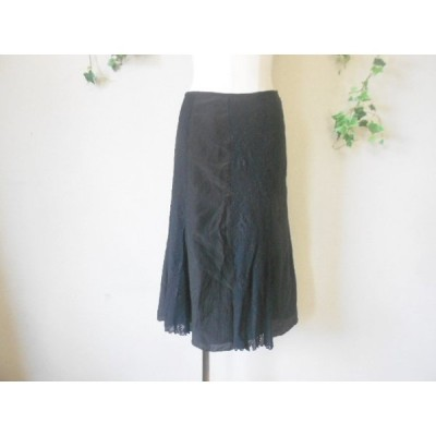 アン KOOS クース 絹 シルク混 異布 8枚ハギ 切替 スカート S