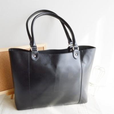 良質牛革 トートバッグ 本革 日本製 ブラック No.2571 ビジネスカバン レディースバッグ  鞄 かばん バッグ  女性かばん 軽量バッグ
