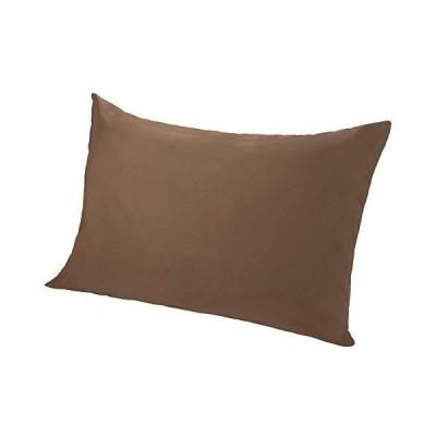 東京西川 枕カバー ブラウン 63X43cmのサイズの枕用 軽量 速乾 マイモデル 無地 使いやすい PJ09000001A2