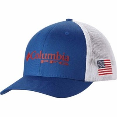 コロンビア キャップ Columbia PFG Mesh Ball Cap Mountain Blue/Us Flag