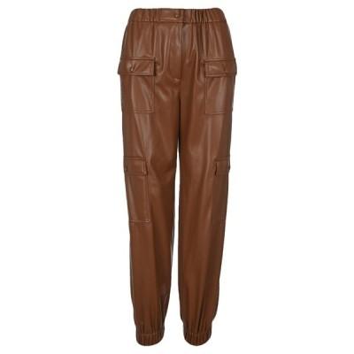 エムエスジイエム レディース カジュアルパンツ ボトムス MSGM High-Waisted Faux-Leather Cargo Pants -