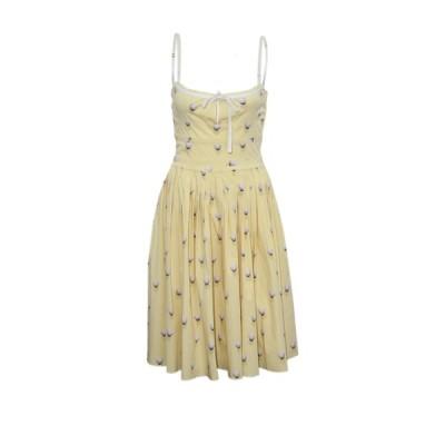 プラダ Prada プリント サンドレス ドレス ワンピース ウェア 中古