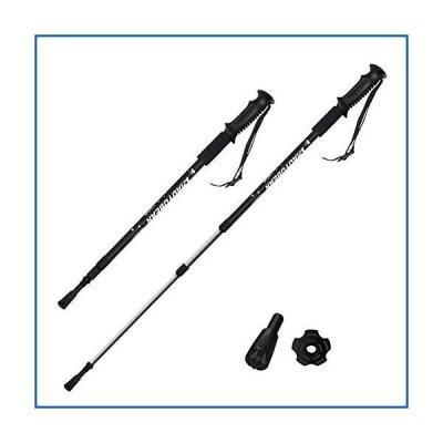<新品>Hiking Walking Trekking Poles with Anti Shock & Quick Lock System, Telescopic Ultralight for Hiking/Camping/Mountaineering (Colo