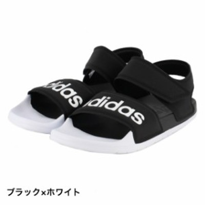 アディダス アディレット サンダル ADILETTESANDAL (F35416) スポーツサンダル : ブラック×ホワイト adidas