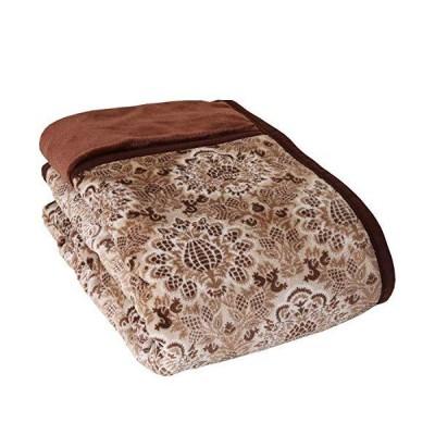 昭和西川 販売開始1年で4,000枚以上 毛布 ブラウン 140X200? シングル ふっくら 暖か WITH REST 綿入り 毛布 22