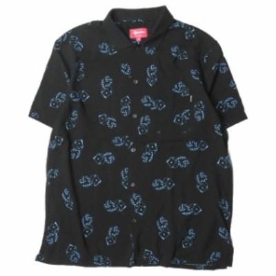Supreme シュプリーム 19SS Dice Rayon S/S Shirt  ダイスレーヨンショートスリーブシャツ M ブラック 半袖 サイコロ プリント トップス