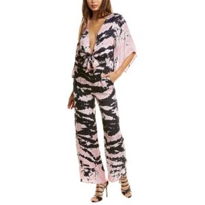 ワイエフビークロージング レディース ワンピース トップス YFB CLOTHING Breezy Jumpsuit ink bamboo