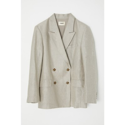 LINEN BOXY DOUBLE TAILORED ジャケット L/GRY1