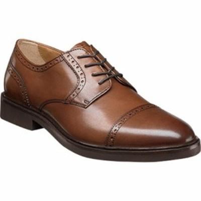 フローシャイム 革靴・ビジネスシューズ Hamilton Cap Toe Oxford Cognac Smooth Leather