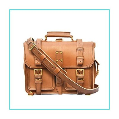 Marlondo Leather Executive Briefcase - Mens Laptop Messenger Bag - Handmade, Full Grain Veg-Tan Leather Satchel【並行輸入品】