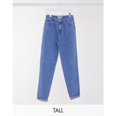 ニュールック New Look Tall レディース ジーンズ・デニム ボトムス・パンツ Balloon Leg Jeans In Mid Blue ブルー