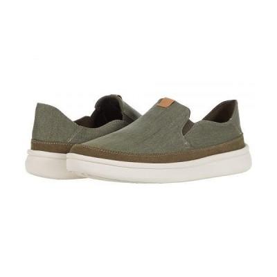 Clarks クラークス メンズ 男性用 シューズ 靴 スニーカー 運動靴 Cantal Step - Olive Canvas