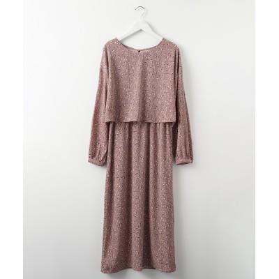 花柄ワンピース(裏地付) (ワンピース)Dress