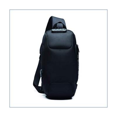 Yeasumoe Men's Oxford Sling Bag Water Resistant Outdoor Crossbody Backpack Daypack for Men Black HLD-9223-Hei 並行輸入品