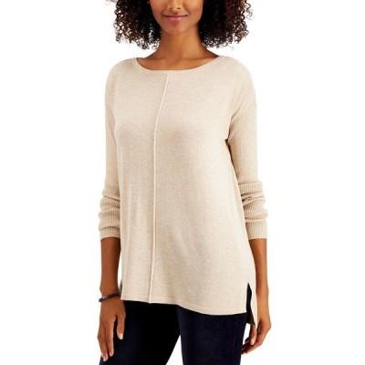 スタイルアンドコー ニット&セーター アウター レディース Petite Seam-Front Sweater Sandcastle Heather