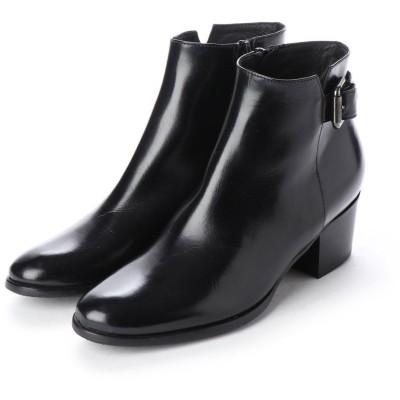 ルカ グロッシ LUCA GROSSI ベルト付きショートブーツ (ブラック)