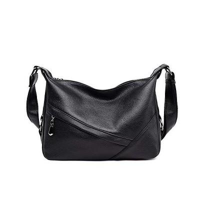 Women's Retro Sling Shoulder Bag from Covelin, Leather Crossbody Tote Handbag Black 2【並行輸入品】