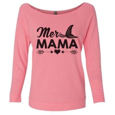 レディース 衣類 トップス Women's Cute Mermaid aMer Mama Mothers Day Sweat Shirt - Vacation Gift Pink Small グラフィックティー