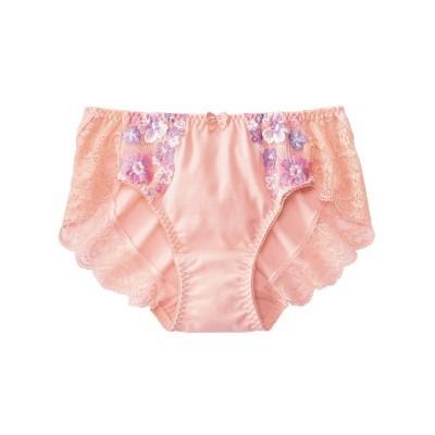 花柄刺しゅうレース深ばきペアショーツ(M) スタンダードショーツ, Panties