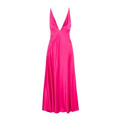 MICHAEL LO SORDO ロングワンピース&ドレス フューシャ 8 シルク 100% ロングワンピース&ドレス