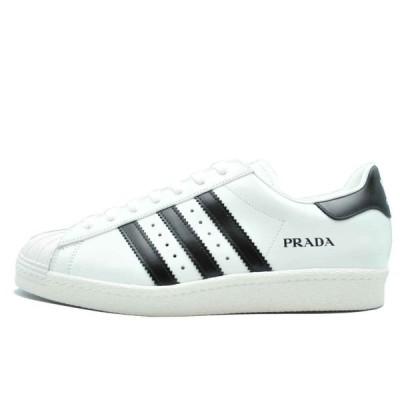 プラダ アディダス スーパースター ホワイト 28.5cm Prada Adidas Superstar Core White  FW6680 安心の本物鑑定