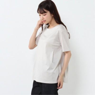 半袖カットソー[日本製] ライトベージュ M L LL