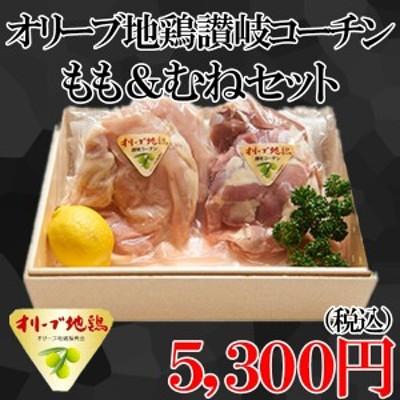 肉 鶏肉 送料無料 オリーブ地鶏讃岐コーチン もも&むねセット G015