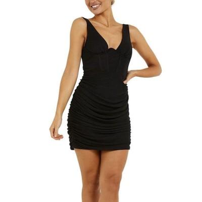 クイズ レディース ワンピース トップス Ruched Bodycon Dress