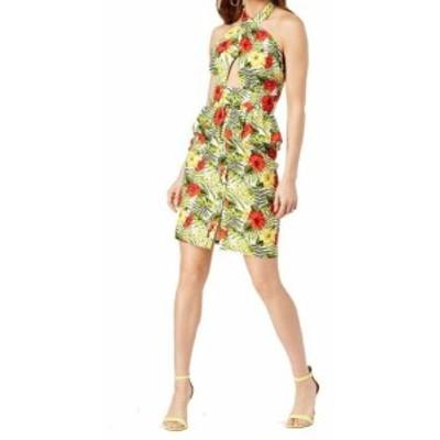 XOXO キスハグ ファッション ドレス XOXO NEW Green Womens Size Small S Tropical Peplum Sheath Dress