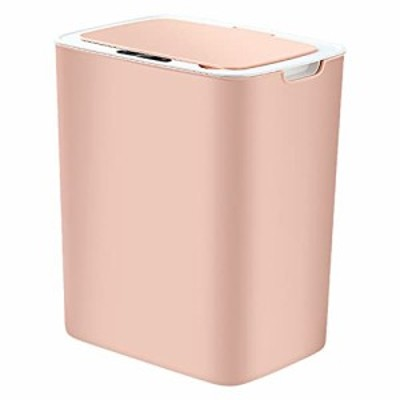 16L Touch Free Trash CansSmart Knock Waste Bins Mute Garbage Can with lid USB Charging Can for Kitchen Bathroom
