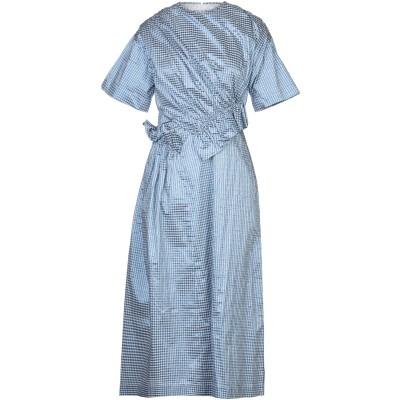 MOTHER OF PEARL 7分丈ワンピース・ドレス ブルー 8 ポリエステル 48% / コットン 40% / 金属化ポリエステル 12% 7