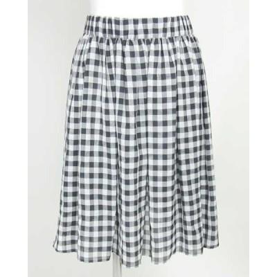 ティアラ Tiara 黒白ギンガムチェックリバーシブルスカート 2