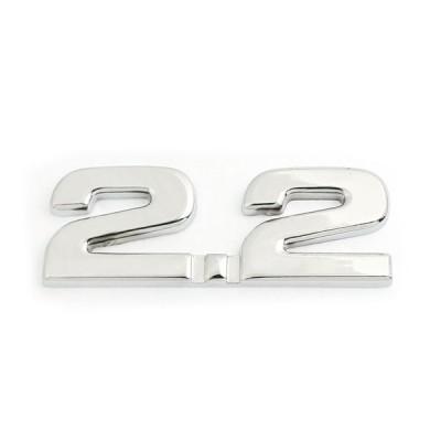 uxcell カーバッジステッカー 2.2デイスプレースメント 3Dエンブレム トラック 飾り 1個入り