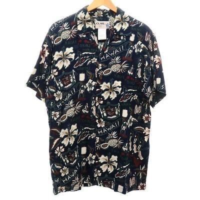 IOLANI アロハシャツ ネイビー サイズ:M (明石店) 200609