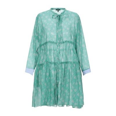 JEJIA ミニワンピース&ドレス グリーン 42 コットン 100% ミニワンピース&ドレス