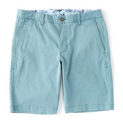 トッミーバハマ メンズ ハーフ&ショーツ ボトムス Flat-Front Straight-Fit Stretch Sateen 10#double; Inseam Boracay Shorts Blue Chais