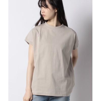 (Melan Cleuge/メラン クルージュ)【Melan Cleuge women】【USAコットン】フレンチスリーブTシャツ/レディース ベージュ