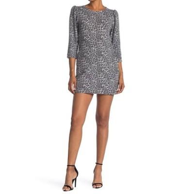 ベルベットトーチ レディース ワンピース トップス Knit Leopard Print Mini Dress BLACK ANIMAL