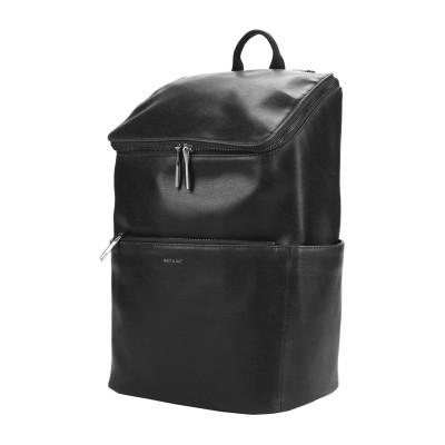 MATT & NAT バックパック&ヒップバッグ ブラック ポリ塩化ビニル 100% バックパック&ヒップバッグ