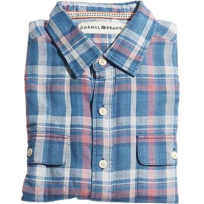 ノーマルブランド シャツ メンズ トップス The Normal Brand Men's Check Shirt Indigo