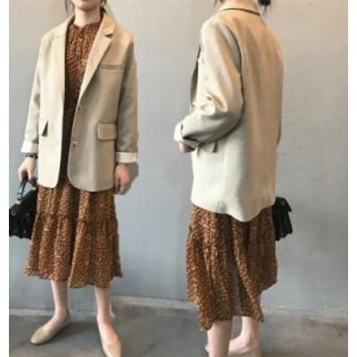 テーラードジャケット レディース スーツジャケット 韓国風 20代 30代 40代 おしゃれ きれいめ 長袖 アウター 卒業式 面接 カジュアル オ