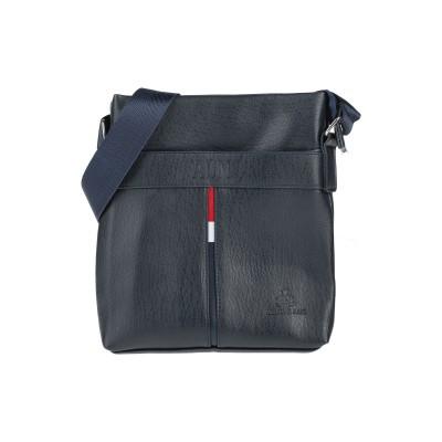ARMATA DI MARE メッセンジャーバッグ ダークブルー ポリウレタン 100% メッセンジャーバッグ