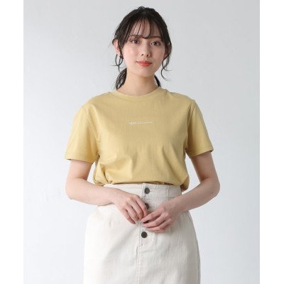 (Honeys/ハニーズ)イラストプリントTシャツ/レディース イエロー